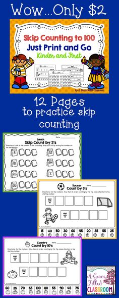 If your students need extra practice with skip counting then this is just for you. Just print and go.