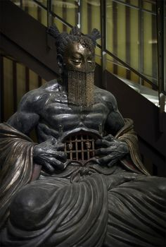 "piebaldpan: ""Statue of Japanese God (by Ta. Madtonez) "" piebaldpan: ""Statue of Japanese God (b Character Art, Character Design, Armadura Medieval, 3d Prints, Buddhist Art, Monster, Religious Art, Ancient Art, Japanese Art"