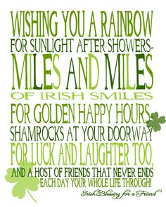 Wishing You Miles and Miles of Irish Smiles! {free printable} - The Love Nerds