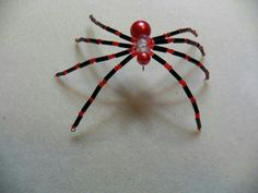 Red & black beaded spider