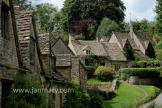 Keith Summerour's inspiration for exterior of house:  Arlington Row in Bibury, The Cotswalds