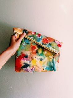 Really big hand painted clutch