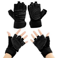 Workout Gym Half Finger Gloves Weight Lifting Wrist Wrap Sports Exercise Training Fitness - Red 'M' Treadmill Workouts, Easy Workouts, At Home Workouts, Workout Abs, Workout Exercises, Fitness Exercises, Weight Loss Challenge, Weight Loss Transformation, Free Weight Loss Programs
