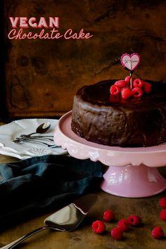 Vegan Chocolate Cake recipe with vegan chocolate ganache |