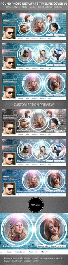 Round Photo Display Facebook Timeline Cover V3   #GraphicRiver          3 Unique Timeline Cover Designs  100% Layered & Easy to Customize  Well Organized with Color Coded Group  Grouped And Layered 3 PSD File  851×315 px  New Facebook Timeline Cover Look  Detailed Help Guide Included   Note: Model's Photos aren't included.   Email me or Comment on the comment tab if you have any query…!   If you like the product, please rate it in your download tab, thanks!     Created: 19July13…
