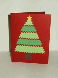 Christmas card craft for kids Christmas Card Crafts, Homemade Christmas Cards, Preschool Christmas, Christmas Cards To Make, Noel Christmas, Christmas Activities, Homemade Cards, Handmade Christmas, Holiday Crafts