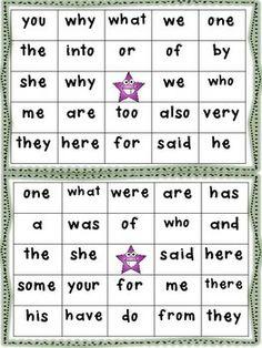 FUNDATIONS TRICK WORD (SIGHT WORD) BINGO UNITS 2-7 - TeachersPayTeachers.com