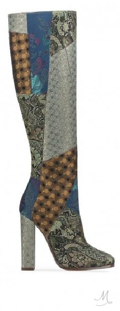 Etro Tall Patchwork Boots