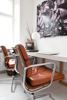 Home Office - Eames Soft Pad Home Office, Office Workspace, Office Chairs, Desk Chairs, Office Art, Lounge Chairs, Office Decor, Dining Chairs, Knoll Chairs