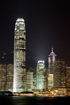 "Hong Kong, Central IFC2 - ""home studio"" where I work. So beautiful especially at night <3"
