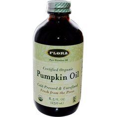 Flora, Certified Organic Pumpkin Oil, 8.5 fl oz (250 ml) - iHerb.com