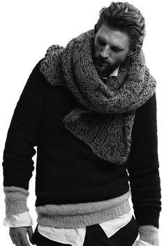 fuzzyfindings: mensfashionworld: Jardine Autumn/Winter 2013 Why anybody would hide that beautifully soft boucle sweater underneath a second sweater is beyond me. Could somebody photoshop that black sweater off him please? Der Gentleman, Gentleman Style, Stylish Men, Men Casual, Look Fashion, Mens Fashion, Fashion Styles, Fashion Trends, Looks Style