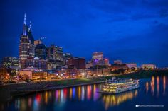 Nashville Skyline by Giselle Coindreau Nashville Skyline, New York Skyline, Beautiful Moments, Beautiful Places, Famous Waterfalls, Tennessee River, Falls Creek, Local Photographers, Cades Cove