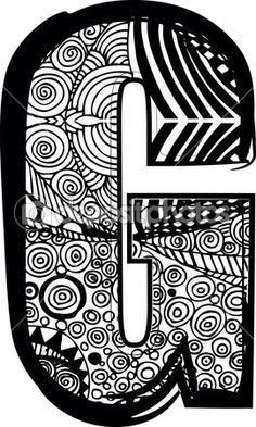 Letra g con dibujo abstracto. ilustración vectorial — Ilustración de stock #11450246
