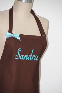 Personalized Apron  Sandra Brown apron Name Apron  by Wheelering