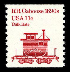 11c Railroad Caboose coil single