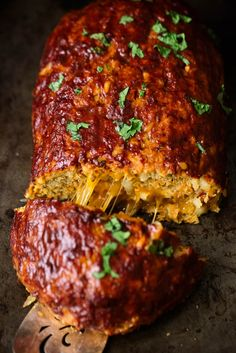 Outrageously delicious & healthy sweet potato BBQ turkey meatloaf stuffed with sharp cheddar cheese. Easy to make and bound to become a dinner staple! Meatloaf Recipes, Meat Recipes, Dinner Recipes, Healthy Recipes, Dinner Ideas, Cooker Recipes, Healthy Foods, Bbq Turkey, Turkey Meatloaf