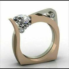 Modern Jewelry, Jewelry Art, Jewelry Rings, Jewelry Accessories, Fine Jewelry, Gold Jewelry, Wire Rings, Jewelry Making, Bijoux Design