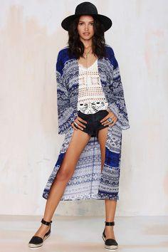 at nasty gal Now or Never Kimono