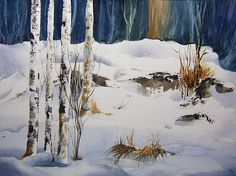 snow paintings - Google Search