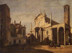 Chiesa di San Giorgio al Palazzo, Milano 1830 circa   da Milàn l'era inscì