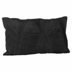 Showcasing a ribbed black finish, create a place to relax in your master bedroom or study by scattering several of these cushions on your bed or sofa.   Product: CushionConstruction Material: 100% PolyesterColour: BlackFeatures: Insert includedDimensions: 30 cm x 50 cmCleaning and Care: Professional cleaning only