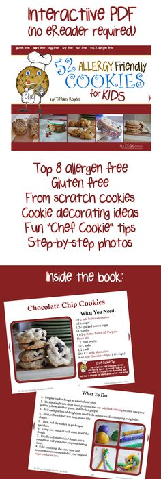Download our eBook during May 2015 and be entered to #win the Ultimate #top8free Cookie Prize Pack! Winners announced each week in May... don't delay! #foodallergy #kids #fun #baking #cookbook #recipes #cookies #allergyfriendly #vegan #gluten free #giveaway #Cookies4KFA
