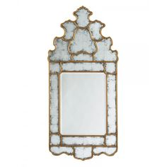 This antiqued gilt and eglomise wall mirror in our store is a good example of the verre églomisé technique. The painted effect applied to the back of the glass makes the wall mirror look naturally aged. Decor, Floor Mirror, Home Decor, Beveled Mirror, Glass Furniture, Accent Mirrors, Arch Mirror, Frame Design, Mirror