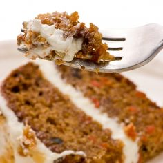 A delicious recipe for a moist layered carrot cake with a cream cheese frosting.