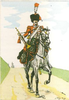 French; 1st Chasseurs a Cheval, Elite Company, Trumpeter, Tenue de Campagne, 1807