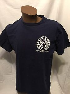 FDNY 9/11/01 Supreme Sacrifice NYC firefighter Large Tshirt Fire WTC THE BRAVEST  | eBay