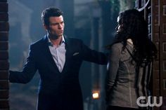 """The Originals -- """"Le Grand Guignol"""" -- Image Number: OR115b_0999.jpg -- Pictured (L-R): Daniel Gillies as Elijah and Shannon Kane as Sabine -- Photo: Quantrell Colbert/The CW -- © 2014 The CW Network, LLC. All rights reserved."""