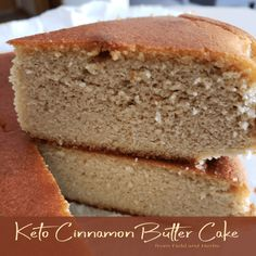 """Keto Cinnamon Butter Cake This is an amazing, moist and perfectly rich cinnamon butter cake. Plus, it is Keto compliant! This """"breaking your fast"""" cake is amazing with a cup of decaf organic coffee! Low Carb Bread, Low Carb Keto, Low Carb Recipes, Diet Recipes, Keto Bread, Recipies, Zoodle Recipes, Ketogenic Recipes, Shrimp Recipes"""