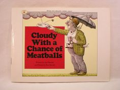 Cloudy With a Chance of Meatballs Vintage Childrens Book via Etsy $3.00
