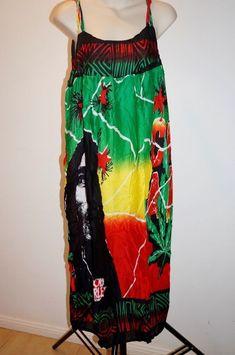 fc38dd0572242 Bob Marley Dress Rasta Hippie reggae ladies Comfy Gypsy loose fit one size  XXL