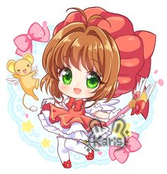 Kero Sakura, Cardcaptor Sakura, Anime Drawings Sketches, Cute Drawings, Anime Chibi, Manga Anime, Card Captor, Syaoran, Clear Card