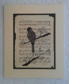 A Sparrow. By Kat Banks. 2013 by avintagesparrowsnest on Etsy, $70.00