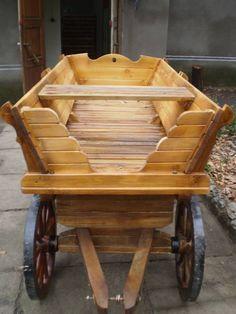 WoodCraft - Изготовление мебели ручной работы в Павлограде - Деревянная четырех колесная повозка своими руками (Первое изображение)