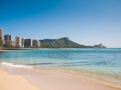 Waikiki Beach with a view of Diamond Head