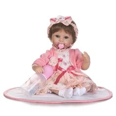 """59.49$  Watch here - http://aliof4.shopchina.info/go.php?t=32809079756 - """"New Style Silicone Reborn Dolls for Sale 42CM Small Size Newborn Babies Bonecas 18"""""""" Lifelike Baby Alive Toys for Girls Gifts""""  #SHOPPING"""
