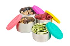 Let's say no to plastic and yes to these little smarties that are simple & mess free add-ons to carry our everyday meals and snacks. These stackable reusable boxes are sure to make heads turn with their vibrant colors. We love using them in our family everyday, we are sure you will too. Stainless Steel Lunch Containers, Stainless Steel Lunch Box, Dog Food Recipes, Snack Recipes, Healthy Recipes, Snacks, Pouch Reset, Food Temperatures, Meal Prep Containers