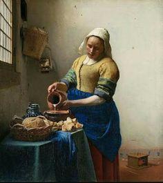 """Cenas do cotidiano """"A leiteira """" Vemeer"""