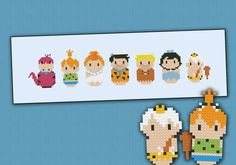The Flintstones parody  Cross stitch PDF pattern por cloudsfactory
