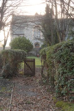 The gate to Mr. and Mrs. Clement's vicarage from Murder at the Vicarage?