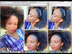 Cornrows Art / How to style your Crochet Braids- more complicated, but still beautiful