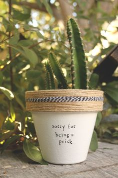 Sorry for Being a Prick by PlantPuns on Etsy