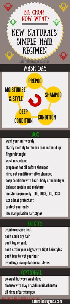 Simple natural hair regimen