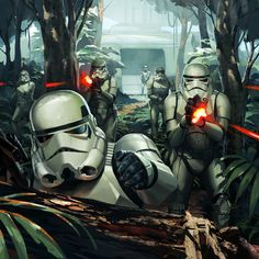 Trooper Assault /by Kaiz0 #deviantART #starwars #art
