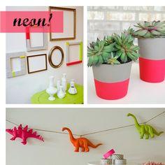 Traga as cores neons para dentro da sua casa!  http://www.minhacasaminhacara.com.br/decoracao-neon/