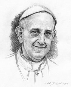 Anthony VanArsdale - Portrait of Pope Francis  Anthony is one of my favorite artists.  He totally nails the likeness!